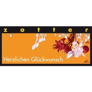 """Zotter """"Herzlichen Glückwunsch"""" Tausend Blätternougat 70g"""