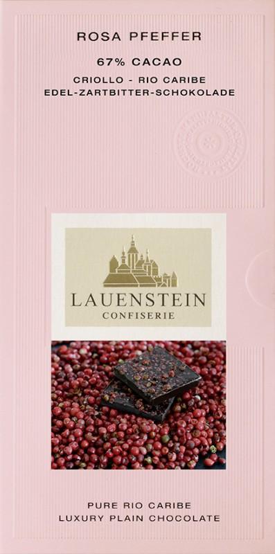 Lauenstein 67% Kakao Rosa Pfeffer 80g