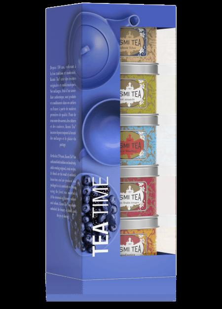 Geschenkset Tea Time - Die Kusmi Tees für den Nachmittag 125g (5 x 25g Dose)