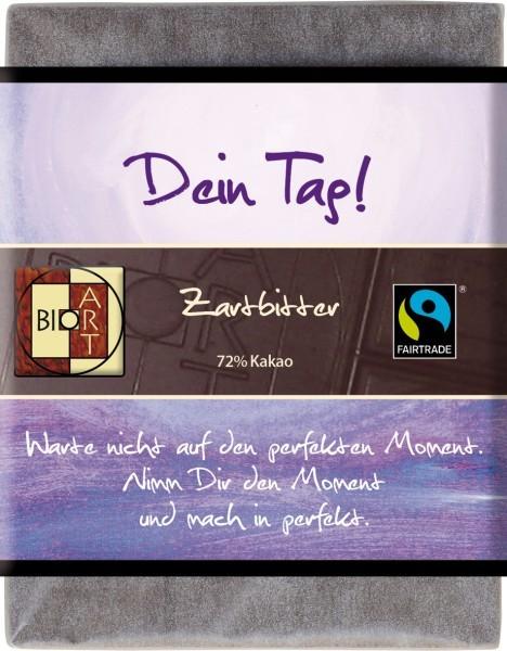 "BioArt Fairtrade Schokolade ""Dein Tag"" (Zartbitter) 70g Vegan"