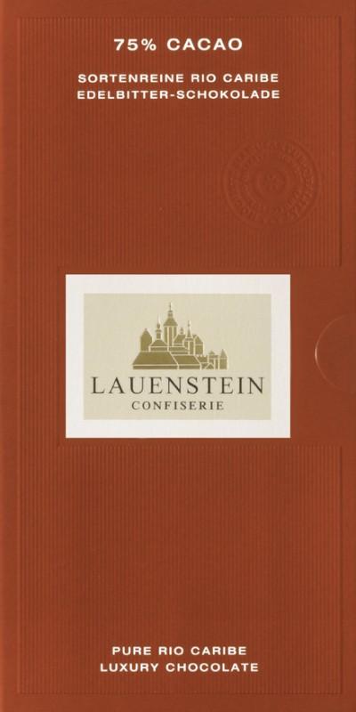 Lauenstein 75% Kakao Edelbitter-Schokolade 80g