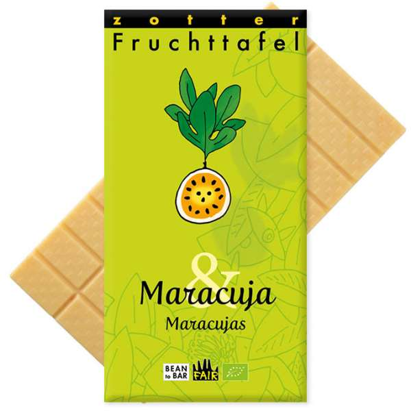 Zotter Fruchttafel Maracuja & Maracujas 70g