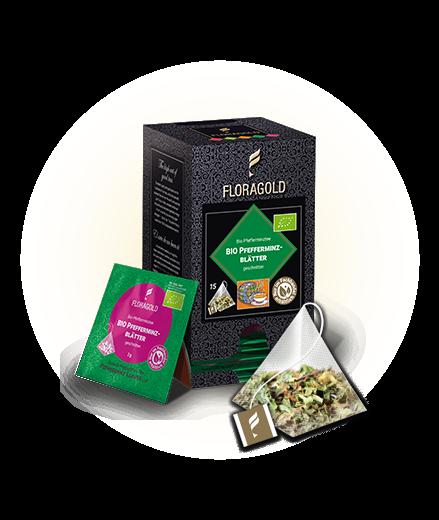Floragold Bio Pfefferminze 30,0g (15 Beutel x 2,0g)