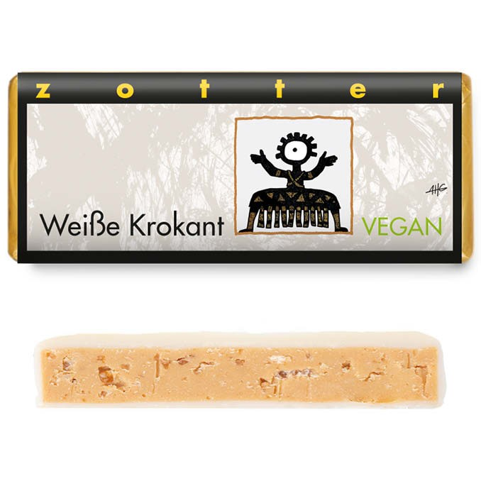 Zotter Schokolade Weiße Krokant 70g Vegan
