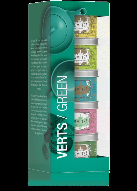 Geschenkset Green Teas - Die Kusmi Grüntee-Mischungen 125g (5 x 25g Dose)