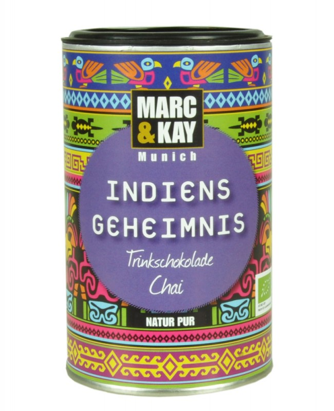 BIO Trinkschokolade Marc & Kay Indiens Geheimnis Vegan