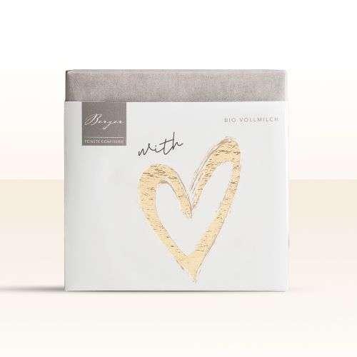 Berger Bio Vollmilch-Schokolade - With Love 70g