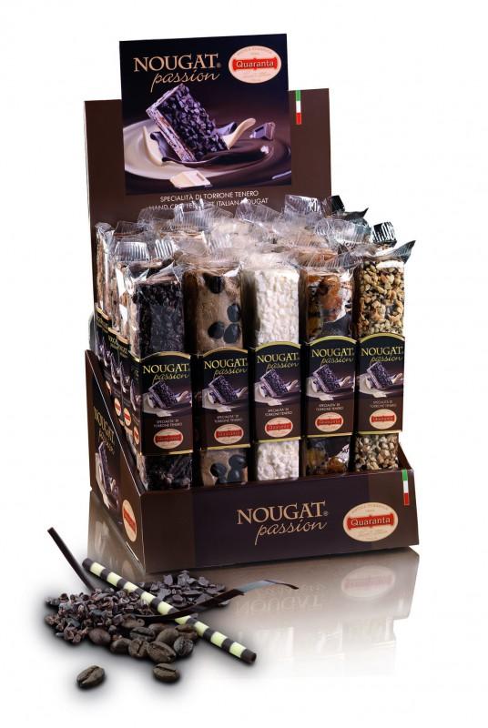 Quaranta Soft Nougat mit dunkler Schokolade und Rum-Rosinen 100g