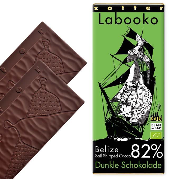 Zotter Labooko 82% Belize Sail Shipped Kakao 70g