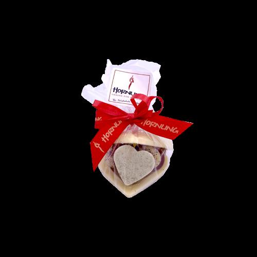 Pralinenherz Weiß Mini ohne Alkohol 70g