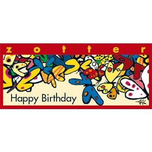 "Zotter ""Happy Birthday"" Butterkaramell 70g"