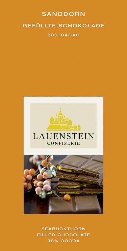 Lauenstein Vollmilch Sanddorn 38% Cacao 80g