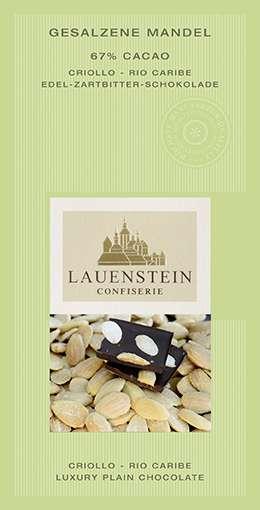 Lauenstein 67% Kakao Gesalzene Mandel 80g Vegan
