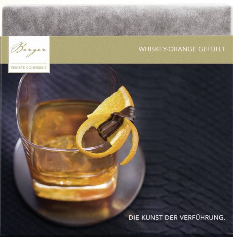 Berger Bio Whisky-Orange gefüllte Zartbitterschokolade 100g