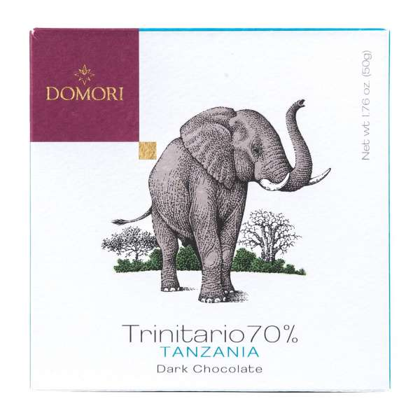 Domori Cacao Trinitario 70% Tanzania Zartbitterschokolade 50g Vegan