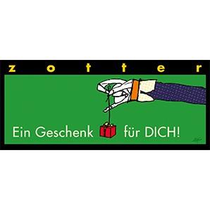 """Zotter """"Ein Geschenk Für Dich"""" Champagner-Himbeere 70g"""