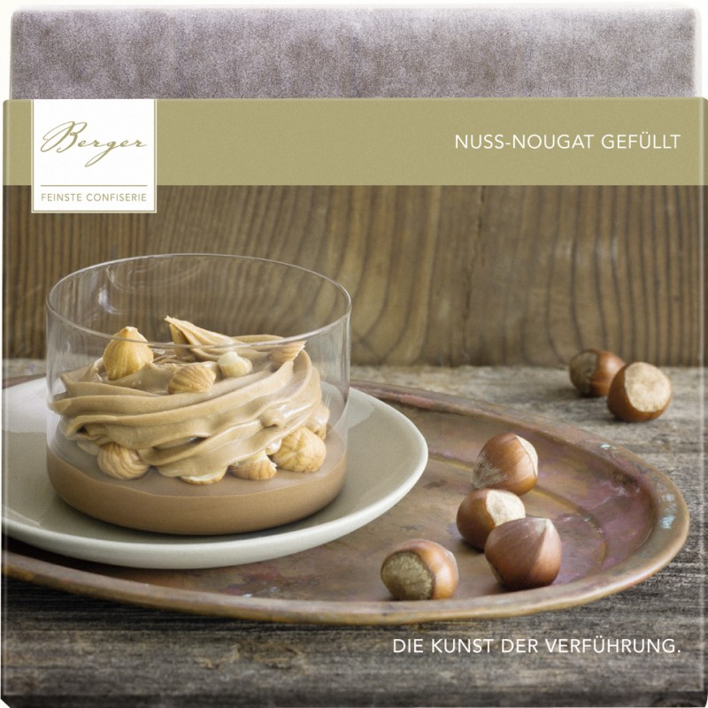 Berger Bio Nuss-Nougat gefüllte Vollmilch-Schokolade 100g