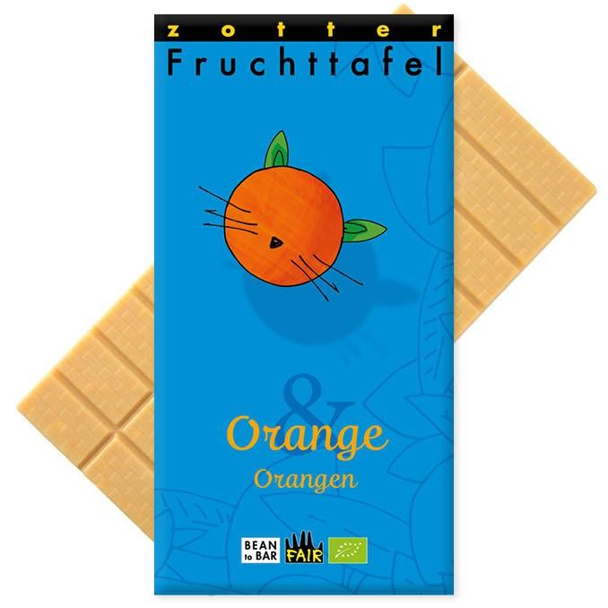 Zotter Fruchttafel Orange & Orangen 70g