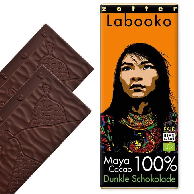 Zotter Labooko 100% Maya Cacao Vegan und Laktosefrei 65g