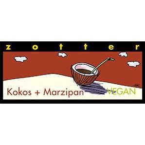 Zotter Kokos und Marzipan Vegan und Laktosefrei 70g