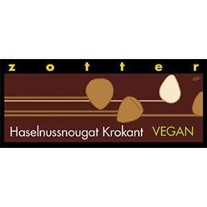 Zotter Haselnussnougat Krokant Vegan und Laktosefrei 70g