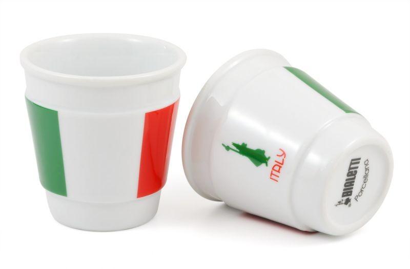 Bialetti Espressobecher Italia (Grün, Weiß, Rot)
