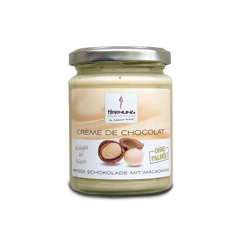 Hornung Crème de Chocolat Weiße Schkolade mit Macadamia (ohne Palmöl) 250g