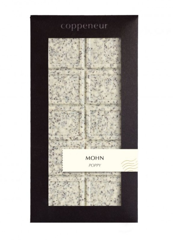 Coppeneur Mohn-weiße Schokolade 85g Tafel