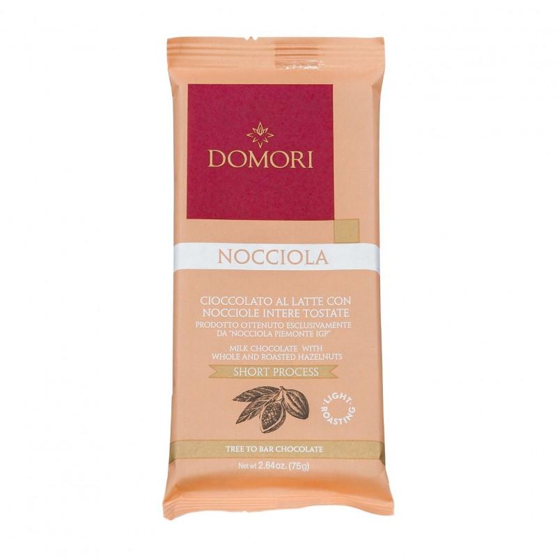Domori Nocciola Vollmilchschokolade mit ganzen Haselnüssen 75g
