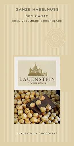 Lauenstein 38% Kakao Ganze Haselnuss 80g