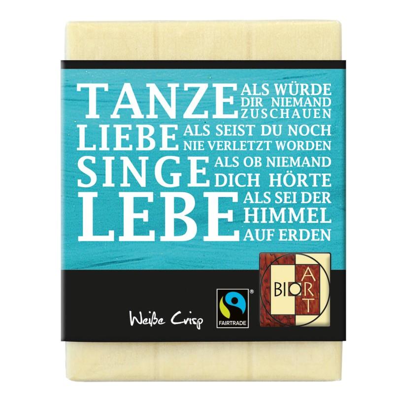 """BioArt Fairtrade Schokolade """"Tanze"""" (Weiße Crisp) 70g"""