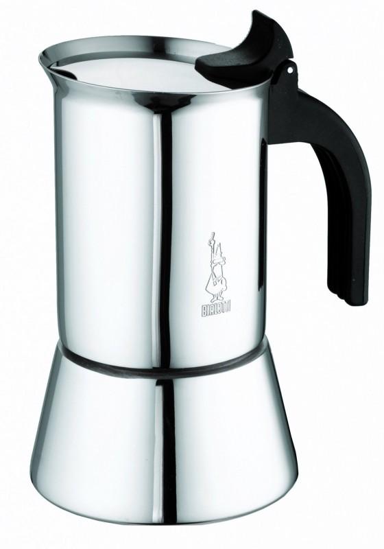 Bialetti Venus 6 Tassen Italienischer Kaffeekocher - Edelstahl