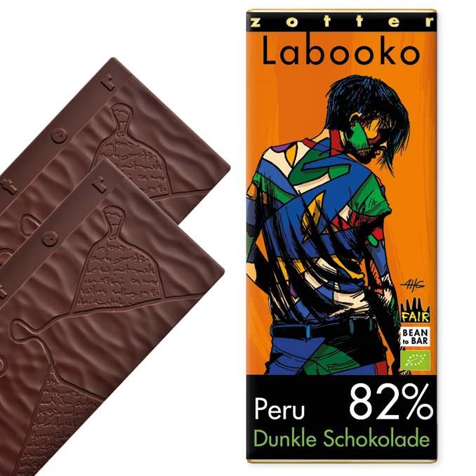 Zotter Labooko Peru Criollo-Cuvée 82% Vegan und Laktosefrei 70g